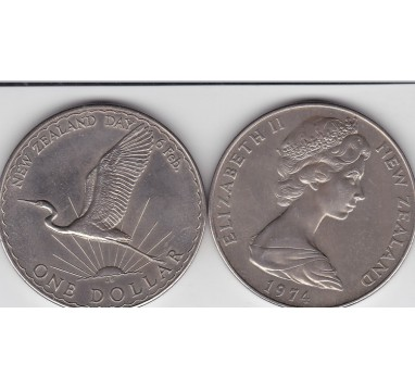 1974г. Новая Зеландия, доллар