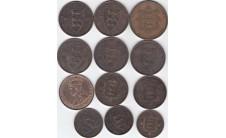 Джэрси. лот из 12 монет