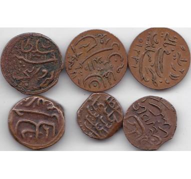 Мальдивы. лот монет 1837-1913г.г.