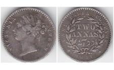 1841г. Британская Индия, 2 анны