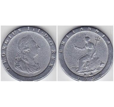 1797г. пенни. Серебрение!
