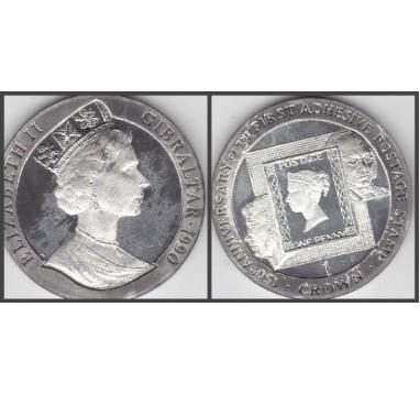 1990г. Гибралтар. Крона