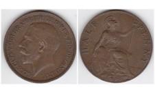 1917г. 1/2 пенни