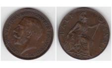 1911г. 1/2 пенни
