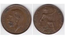 1918г. 1/2 пенни
