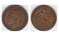 1921г. 1/2 пенни