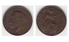 1923г. 1/2 пенни