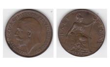 1924г. 1/2 пенни