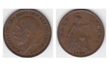 1927г. 1/2 пенни