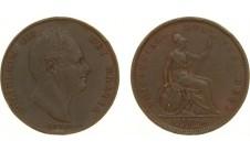 1831г. Вильям IV, пенни