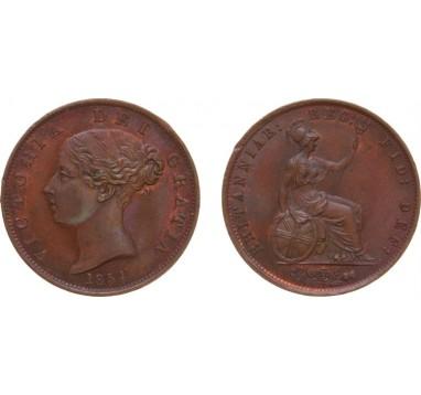 1854г. Виктория. 1/2 пенни
