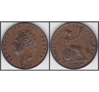 1826 год. 1/2 пенни