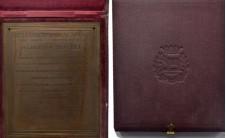 1929-1930г.г. Бельгия. Две бронзовые плакетки, посвященные Алберту Браше.