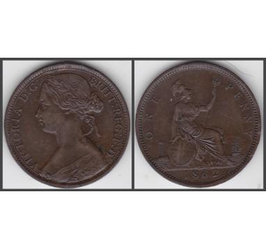 1862г. Виктория. пенни