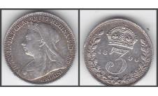 3 пенса. 1896г.