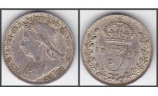 Виктория. 1900г. 3 пенса