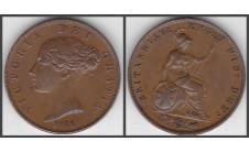 1858г. 1/2 пенни