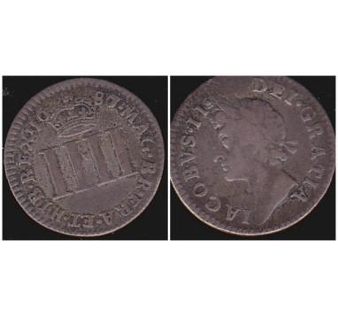 Яков II. 4 пенса 1687/6г.