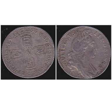 Вильям III. 6 пенсов 1696г