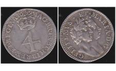 Вильям и Мария. 4 пенса 1689г.