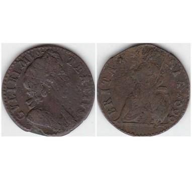1699г. Вильям III фартинг