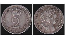 Вильям и Мария. 2 пенса 1691г.