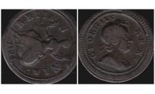 Георг I. Фартинг 1724г.