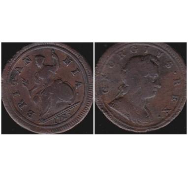 Георг I. Пол пенни 1723г.