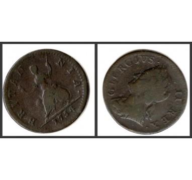 Георг II.  Фартинг 1754г