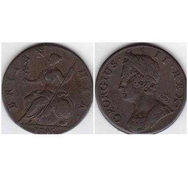 Георг II. Полпенни 1745г.