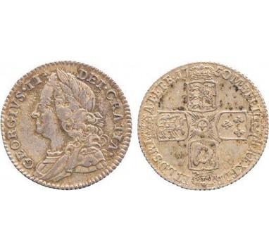 Георг II.  6 пенсов 1750г.