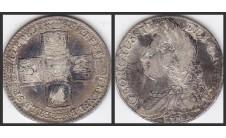 Георг II. Шиллинг 1745г