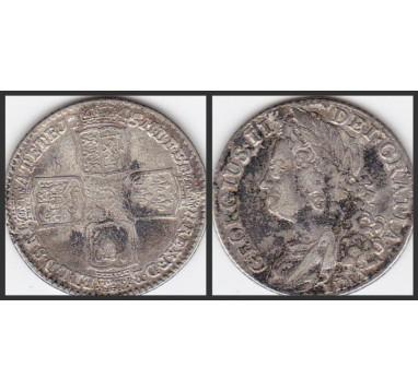 Георг II. Шиллинг 1745г.