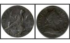 Георг III. Полпенни 1770г.