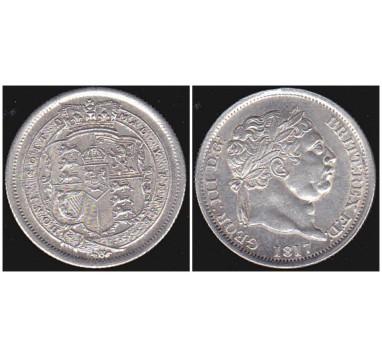 Георг III.  Шиллинг 1817г.