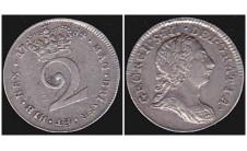 Георг III. 2 пенса 1784г.