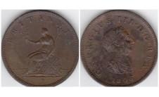 Георг III.  Полпенни 1806г