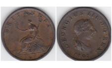 Георг III. Полпенни 1807г.