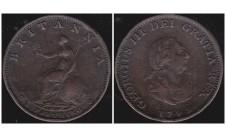 Георг III. Фартинг 1799г.