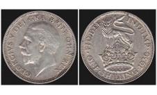 Георг V. шиллинг 1930г.