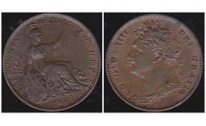 Георг IV. Фартинг 1822г.