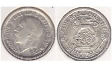 Георг V 6 пенсов 1927г.