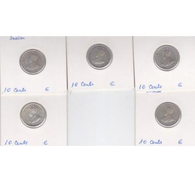Стрейтс -Сетлментс (Малайзия) 10 центов