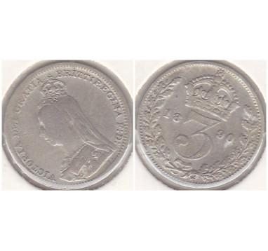 1890г. 3 пенса