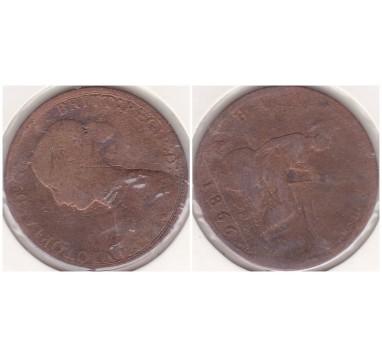 1866г. 1/2 пенни