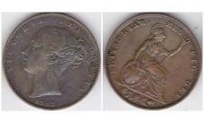 1845г. фартинг