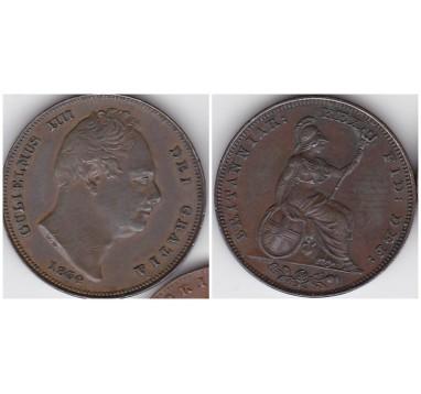 1834г. фартинг